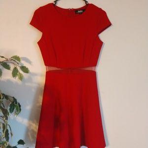 LuLu's red mess dress size small